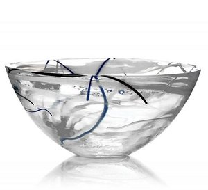 Contrast Bowl White Medium - Kosta Boda