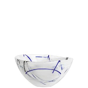 Contrast Bowl White Small  - Kosta Boda