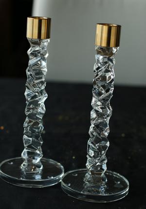 Carat Candlestick Brass 2-pack - Orrefors