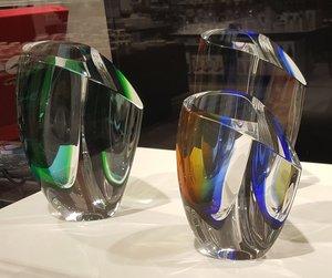 Mirage Vase Blue/Amber Big - Kosta Boda