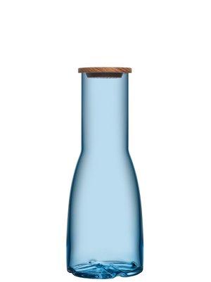 Bruk Decanter Blue with oak lid
