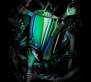 Mirage Vase Green Blue Big  - Kosta Boda