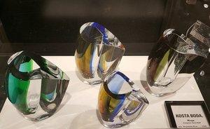 Mirage Vase Blue/Amber Small - Kosta Boda