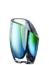 Mirage Vase Green/Blue Small