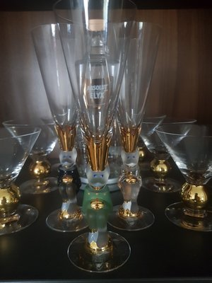 Nobel Sparkling Devil Glass Forest Green- Orrefors