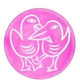Final Peace Plate Birds Pink