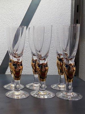 Open Minds 30 years Shots Glass  Gold - Kosta Boda