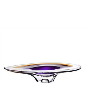 Orchid Plate Lilac Amber - Kosta Boda