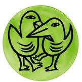 Final  Peace Plate Birds Green