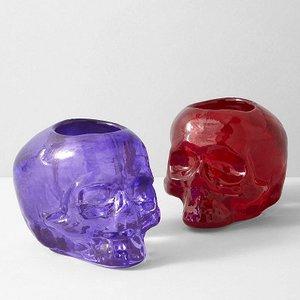Still Life Votive Purple Skull - Kosta Boda