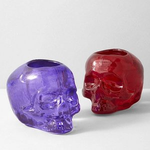 Still Life Votive Red Skull - Kosta Boda