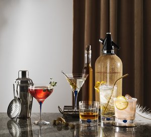 Intermezzo Blue Martini Glass - Orrefors