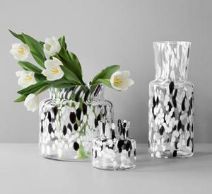 Birch Vase Black White Small - Kosta Boda