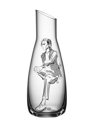 All about you Decanter Him Grey - Kosta Boda