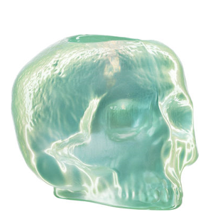 Still Life Votive Light Green Skull - Kosta Boda