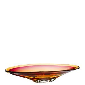 Vision Plate Pink Amber - Kosta Boda