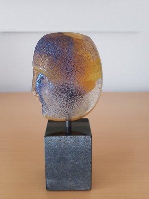 Brains on Base Flora Yellow Head - Kosta Boda