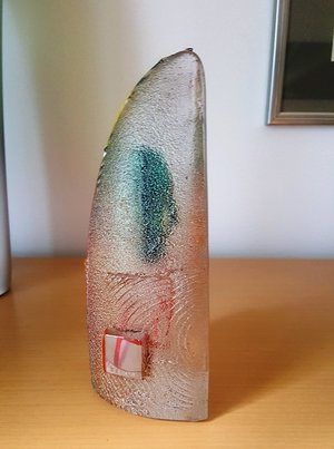 Orbit Halvbåt Orange Grön - Kosta Boda