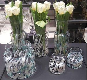 Birch Vase Black / White High
