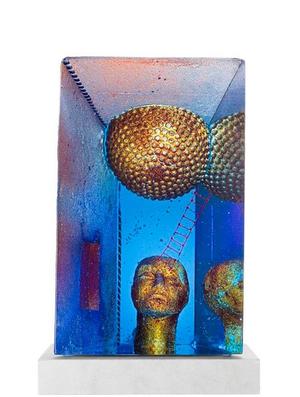 Blue Moon Sculpture - Kosta Boda Limited