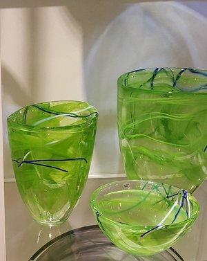 Contrast Vase Lime  - Kosta Boda