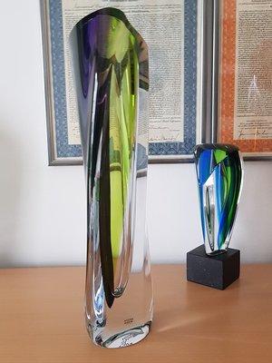Saraband Vas Skulptur Lila Grön - Kosta Boda