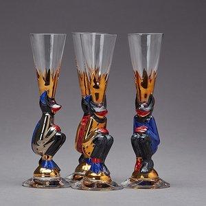 Nobel Devil Glass Gold Shot Schnapps - Orrefors