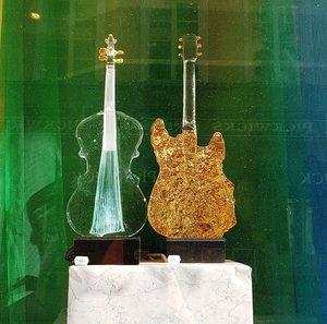 Violin Blue strands - Kosta Boda