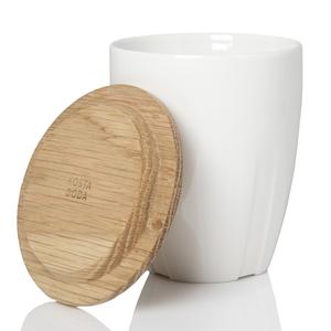 Bruk Coffee Mug White oak lid 2-pack - Kosta Boda