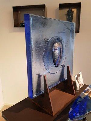 Square Plate Man Blue - Kosta Boda Limited