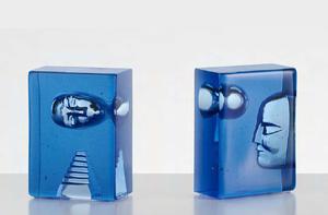 Azur Moon Blue Block - Kosta Boda