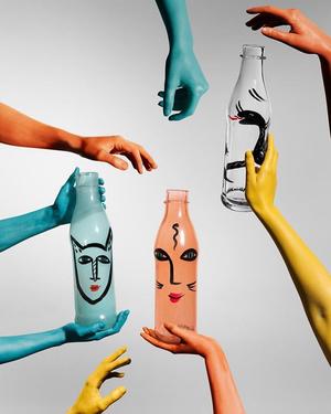 PET Bottle Turquoise- Kosta Boda