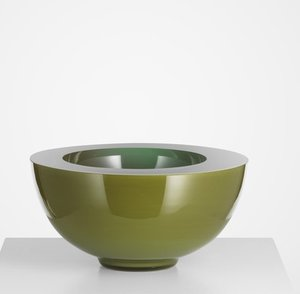 Solid Bowl Green - Kosta Boda