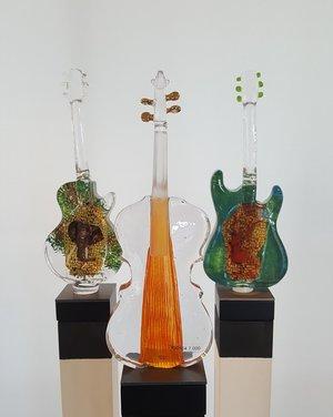 Violin Orange Red strands - Kosta Boda