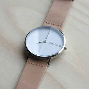 O-Time Armbandsur Natur med Vit Urtavla - Orrefors Unisex Klocka