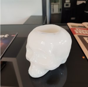 Still Life Skull White Special - Kosta Boda