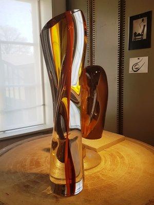 Sculpture Orange Amber - Kosta Boda Unikat