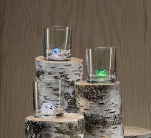 New Friends OF Arctic Fox Whiskey glass - Kosta Boda