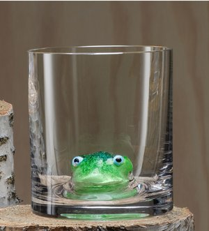 New Friends OF Frog  Whiskey glass - Kosta Boda