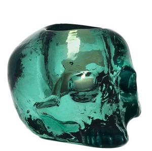 Still Life Votive Green Skull - Kosta Boda