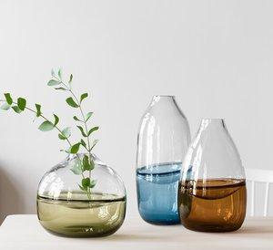 Septum Vase Moss Green  - Kosta Boda