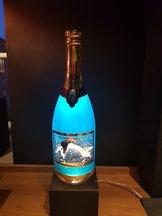 Champagne Bottle Sparkling Blue