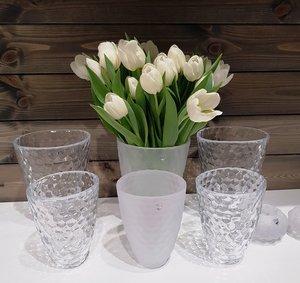 Raspberry Vase Frost Low  - Orrefors