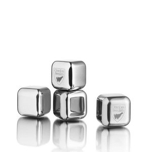 City Ice cubes Steel 4-pack - Orrefors