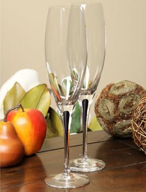 Intermezzo Blue Champagne Flute - Orrefors