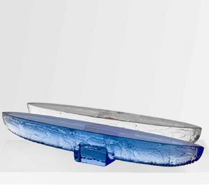 Drifter Blue Boat - Kosta Boda