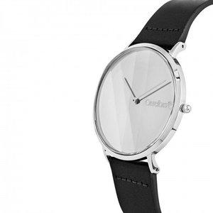 O-Time Armbandsur Svart med Silver Spegelurtavla - Orrefors Unisex Klocka