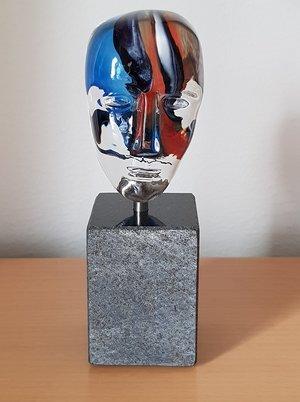 Brains on Base Loke Blue Head - Kosta Boda
