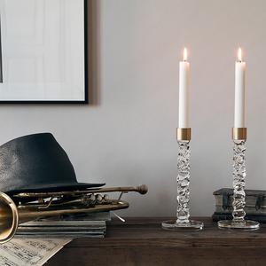 Carat Candlestick Brass High - Orrefors