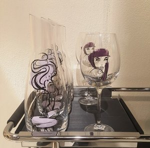 All about you Wine Purple Red 2-pack - Kosta Boda